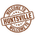welcome to huntsville vector image vector image