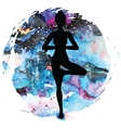 Women silhouette Tree yoga pose Vrikshasana vector image vector image