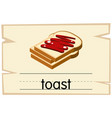 wordcard template for word toast vector image vector image