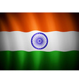 indian flag blowing in the wind eps 10 vector image