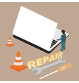 computer laptop repair service maintenance vector image