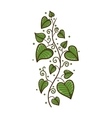 Heart shaped leaves border vector image