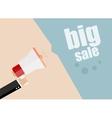 Big Sale Businessman hand holding a megaphone vector image