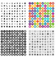 100 national holiday icons set variant vector image vector image