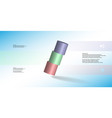 3d infographic template with cylinder vector image vector image