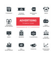 advertising - modern simple icons pictograms set vector image