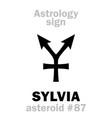 astrology asteroid sylvia rhea silvia vector image vector image