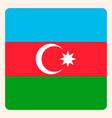 azerbaijan square flag button social media vector image vector image