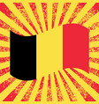 belgian national day flag of belgium rays from vector image vector image