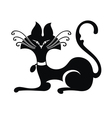 Black silhouette of cat vector image vector image