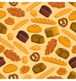Bread and pastries seamless pattern vector image vector image