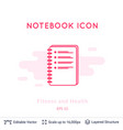checklist icon isolated on white vector image vector image
