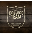College team badges logos and labels for any use vector image