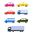 colorful cars set vector image vector image