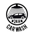concept for car washing vector image vector image