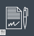 contract line icon vector image vector image
