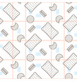 cookie food seamless pattern vector image vector image