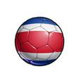 costa rican flag football - soccer ball vector image vector image