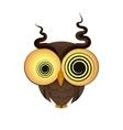 crazy owl logo vector image vector image