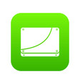 database icon digital green vector image vector image
