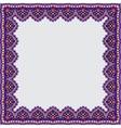 decorative frame white background vector image