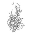Doodle art flowers vector image vector image