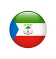 equatorial guinea flag on button vector image vector image
