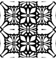 Floral lace background Seamless black pattern vector image vector image