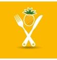 fresh fruit icon vector image vector image