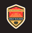 great building vintage label vector image