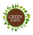 Green Earth Concept Natural vector image vector image