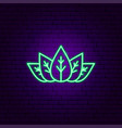 green leaves neon sign vector image