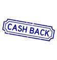 grunge blue cash back word rubber seal stamp on vector image vector image