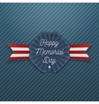 Happy Memorial Day national Emblem with Text vector image
