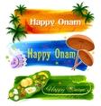 Happy Onam banner vector image vector image