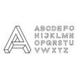 impossible shape font memphis style letters vector image vector image