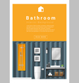 Interior design Modern bathroom banner 6 vector image vector image