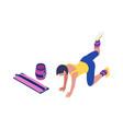 isometric fitness icon vector image