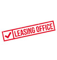 leasing office rubber stamp vector image vector image