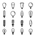 light bulb and led lamp icon set vector image vector image
