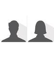 male and female avatar profile picture silhouette vector image