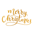 Merry Christmas Handmade calligraphy vector image