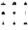 moscow icons vector image