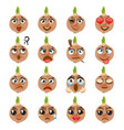 onion emoji emoticon expression funny cute food vector image