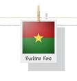 photo of burkina faso flag vector image