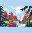 picturesque mountain landscape vector image vector image
