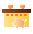 pig farm flat icon animal color icons in trendy vector image vector image