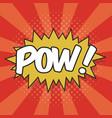 pow wording sound effect vector image vector image