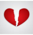 Ragged paper heart vector image vector image