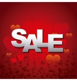 red card of sale design vector image vector image